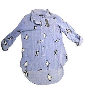 Max jeans striped Pinguin button down shirt